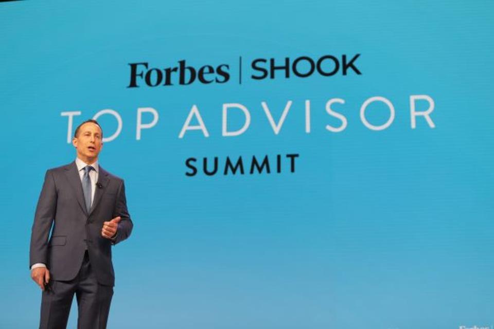 RJ Shook speaks at the 2020 Forbes/SHOOK Top Advisor Summit.