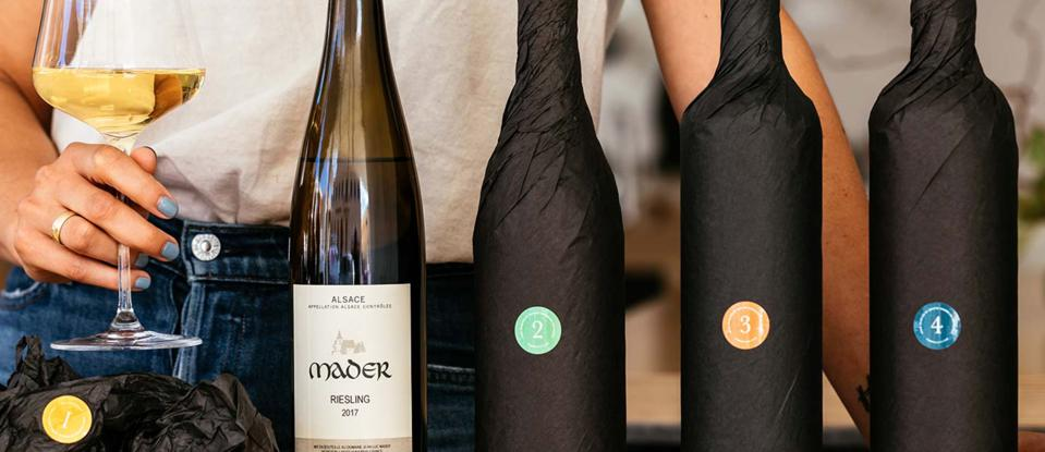 SommSelect Wines, Blind Six, wrapped in black tissue paper