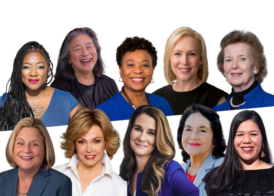 Alicia Garza, Tina Tchen, Barbara Lee, Kirsten Gillibrand, Mary Robinson, Ileana Ros-Lehtinen, Pat Mitchell, Melinda Gates, Dolores Huerta, Monica Ramirez.