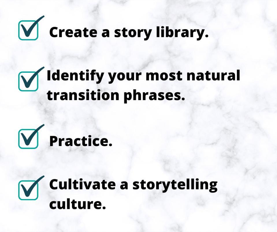 Checklist: Storytelling in Conversation