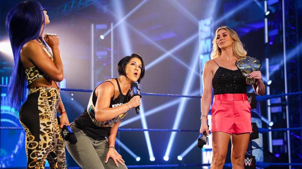 Charlotte Flair Bayley Sasha Banks Friday Night SmackDown