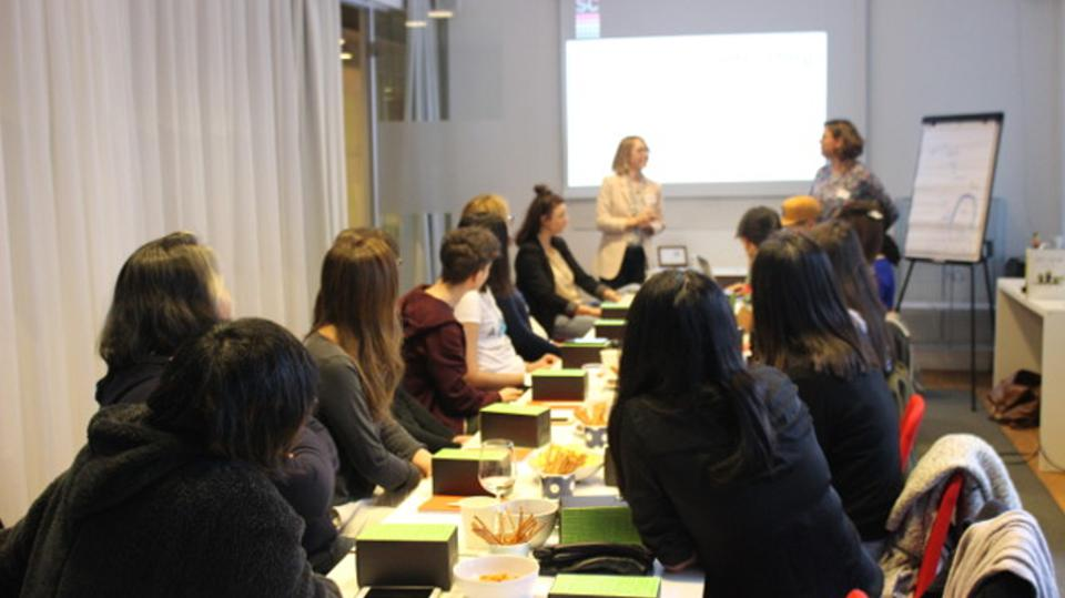 Programming school class for women in Stockholm Sweden.