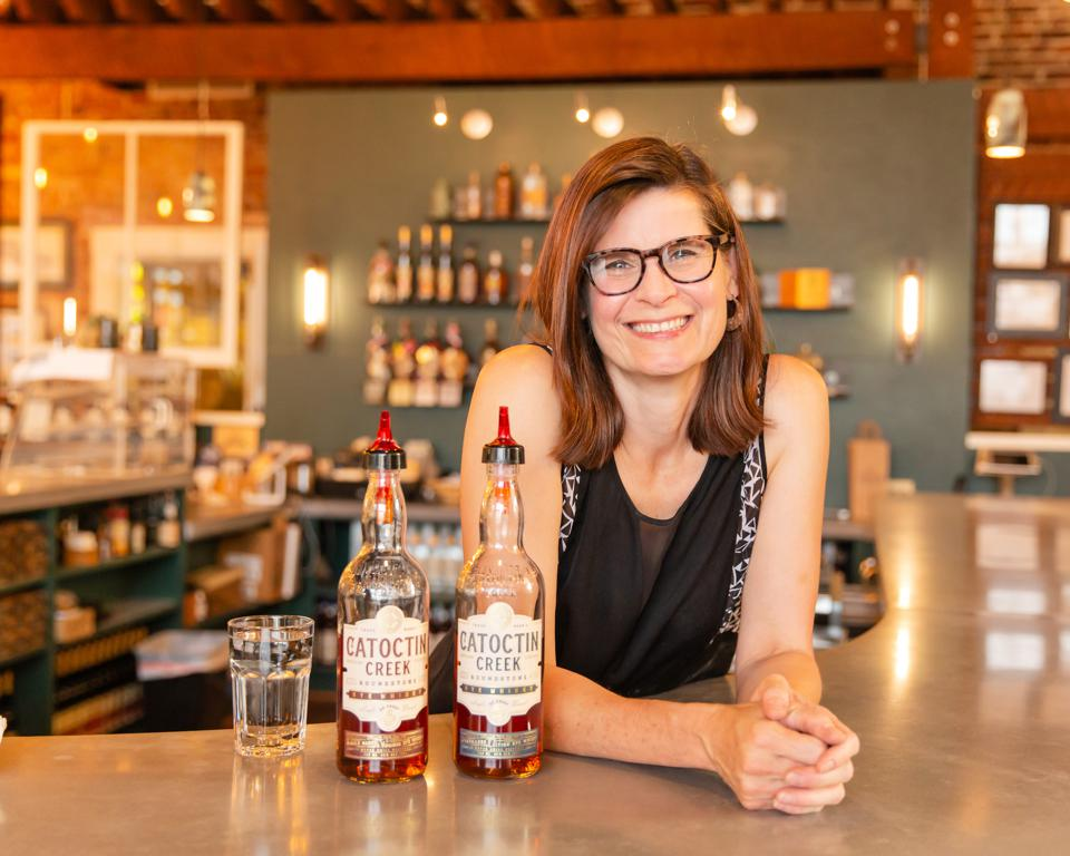 Becky Harris, chief distiller and co-founder of Catoctin Creek Distillery.