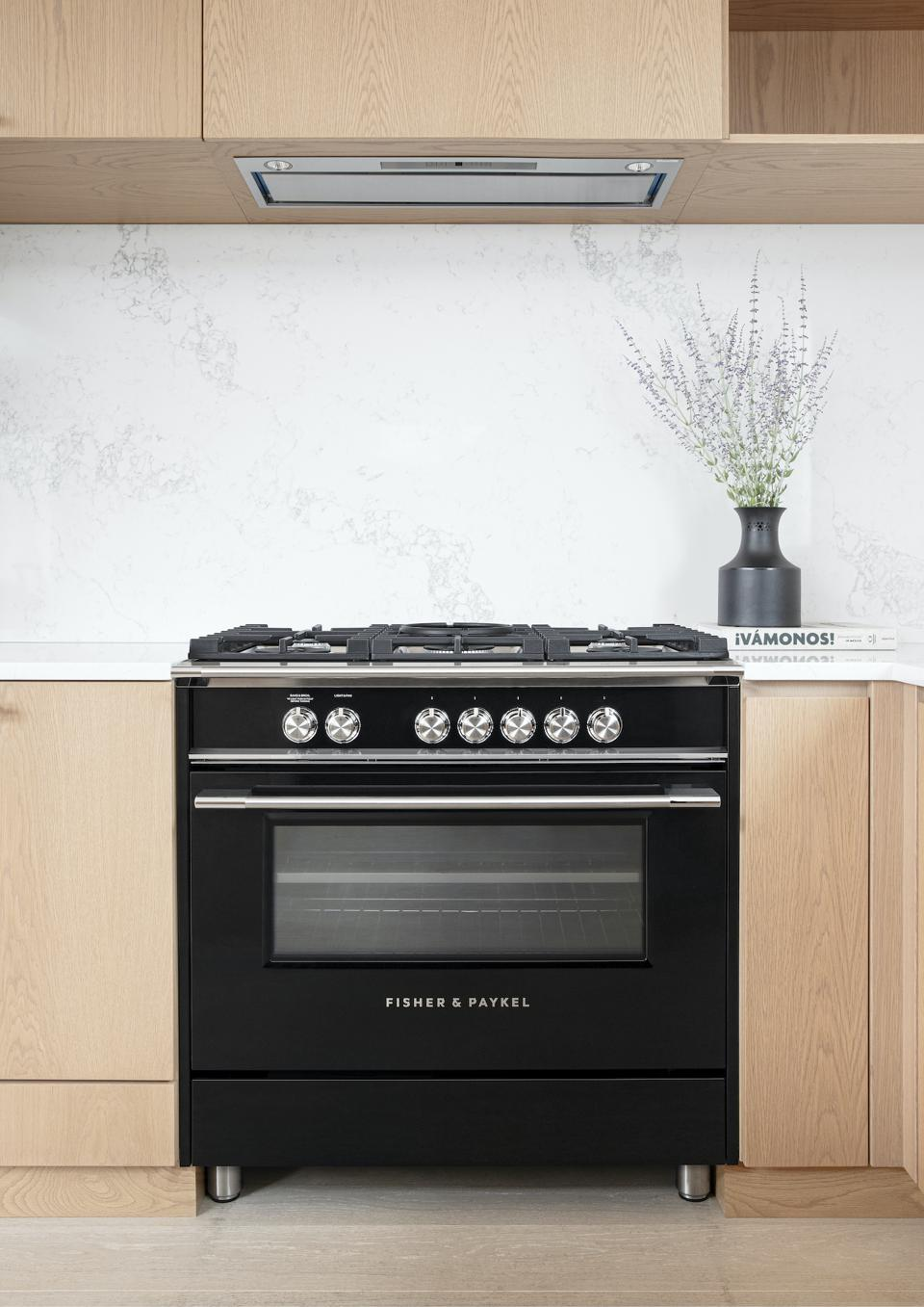 A Fisher & Paykel Stove with their Aerotech™ technology.