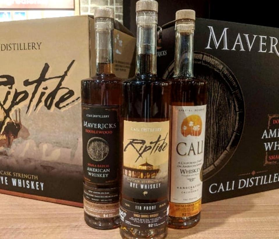 CALI Distillery bottle line-up