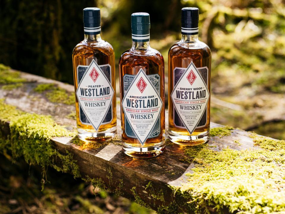 Westland Distillery bottle line-up