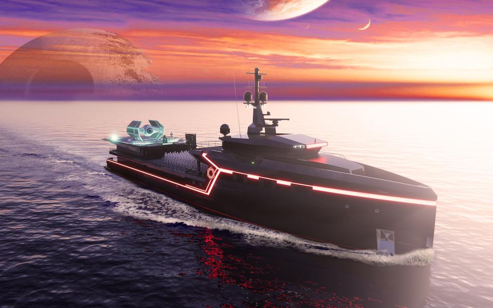 Darth Vader's personal superyacht has room for lots of stormtroopers too!