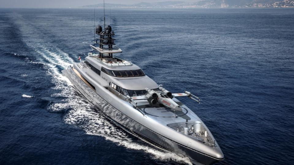 Only the best superyachts have X-Wing fighter launch pads on the foredeck!