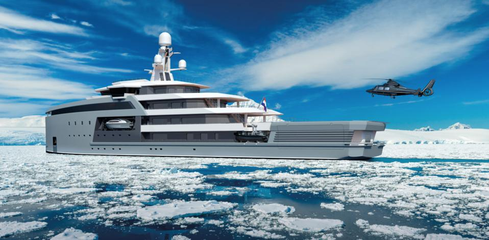 Damen SeaXplorer yachts can take billionaires to the ends of the Earth in style.