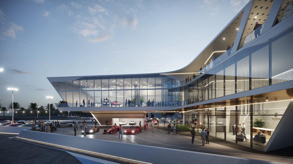 Concours Club event center, designed by Pininfarina.