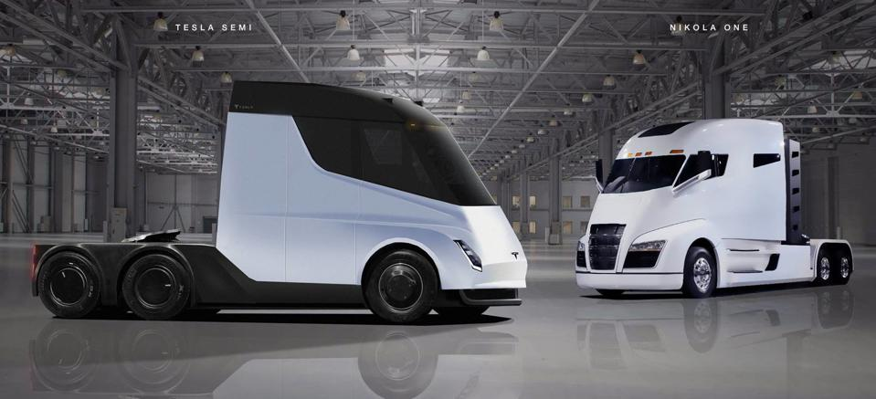 The Nikola One vs. the Tesla Semi Truck