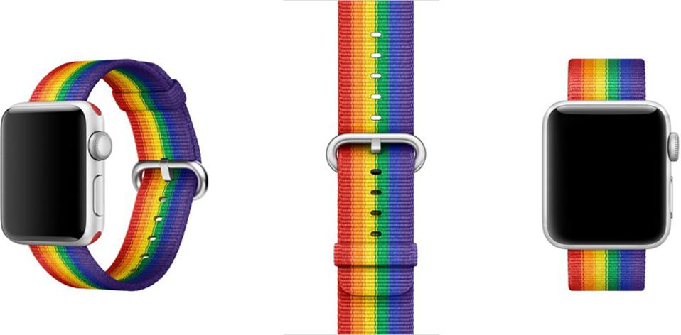 The 2017 Apple Watch Pride band