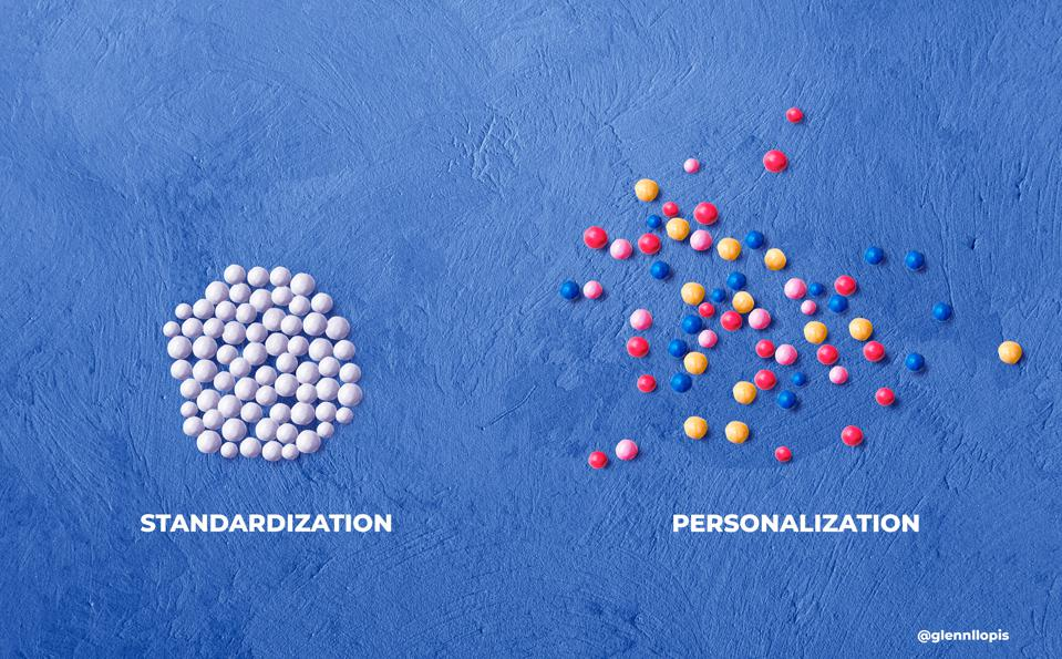 Personalization spooks standardization and when threatened - standardization fights back hard.