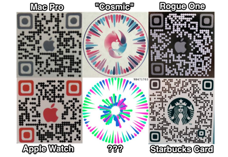 Screen shot of new QR codes in Apple's augmented reality app Gobi that unlock purchases, information, and discounts.