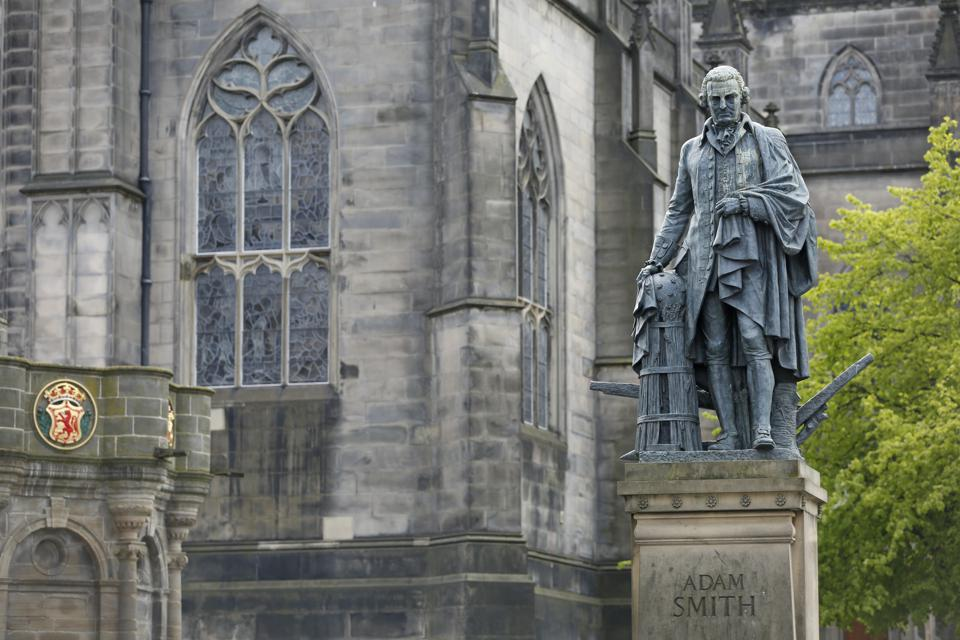 A monument for economic philosopher Adam Smith was unveiled on Edinburgh's Royal Mile on July 4th, 2008, just in time for the worst capitalistic face-plant in a century.