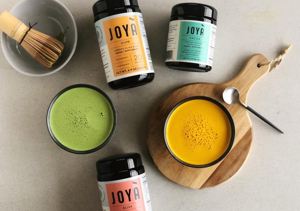 Joyà Elixirs Turmeric Matcha Latte Breakfast Drink Healthy Superfood Herbal Supplement