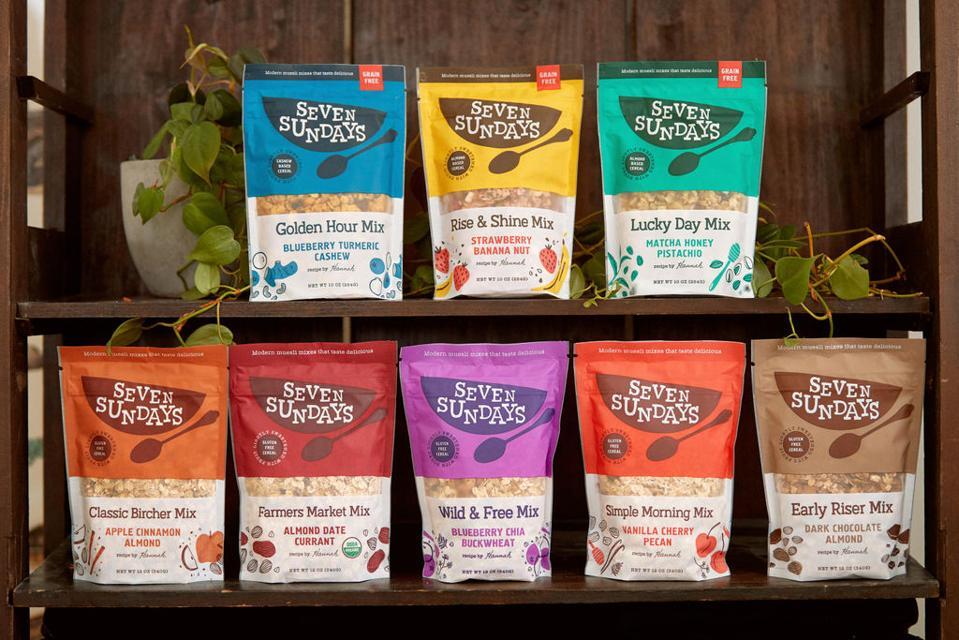 Seven Sundays Muesli Healthy Breakfast Food Brunch Granola Parfait Chocolate Almond Date