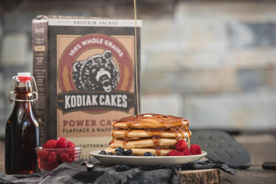 Kodiak Cakes Pancake Stack Maple Syrup Berries Breakfast Healthy Brunch Protein Food Cooking