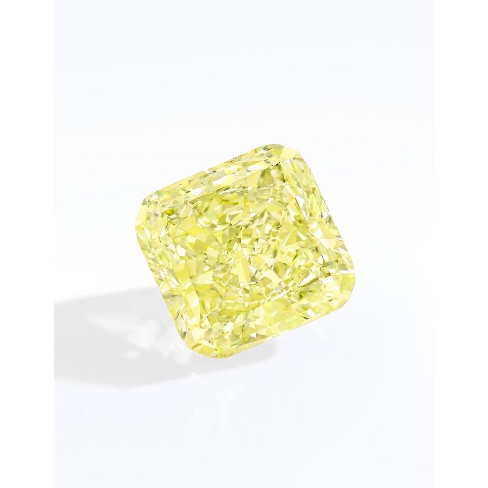 29.84-carat radiant-cut fancy light yellow diamond (estimate: $350,000 - $450,000)