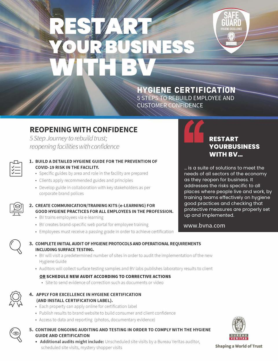 Bureau Veritas, Cleveland Clinic, pandemic, coronavirus, COVID-19, economy, business