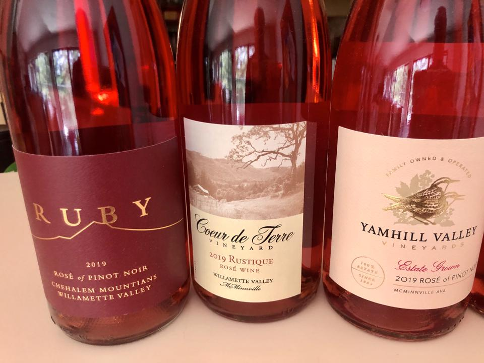 Rose of Pinot Noir from Oregon's Willamette Valley.