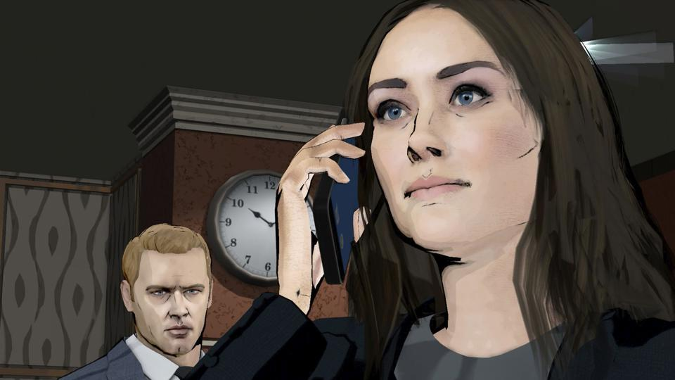An animated scene from Season 7 Finale of 'The Blacklist'