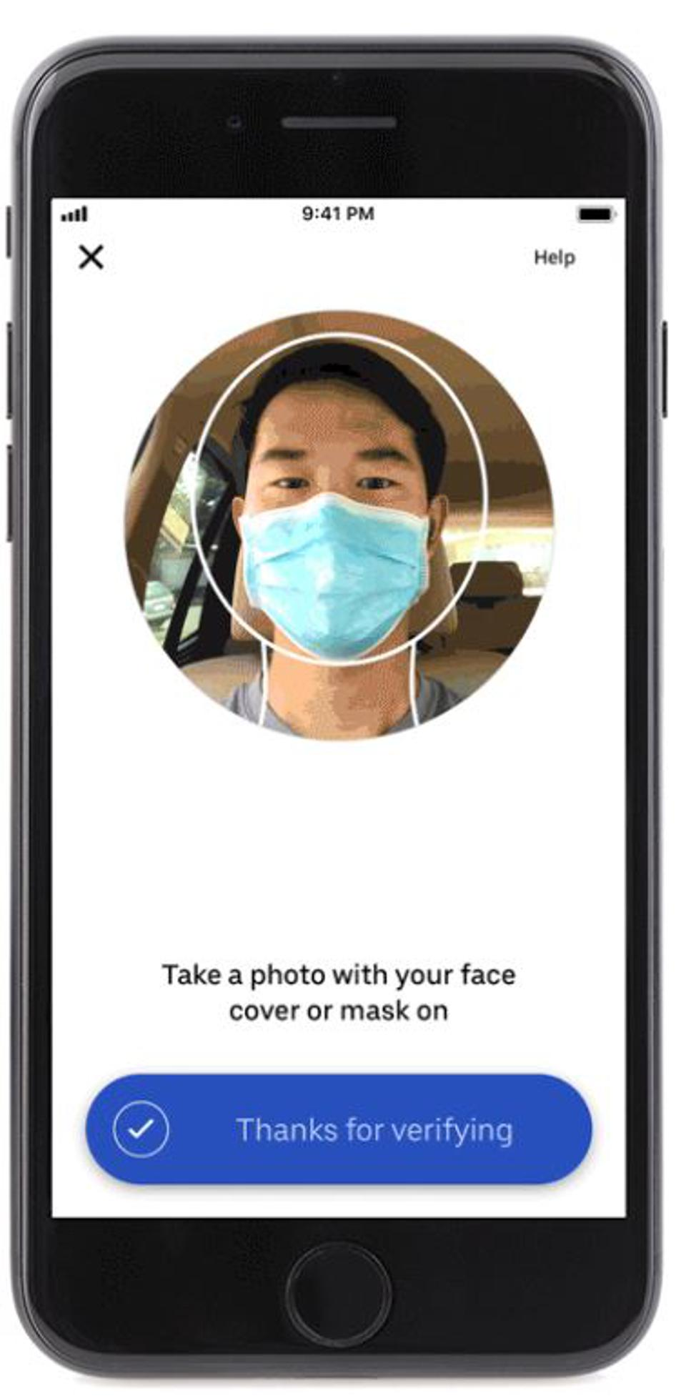 Drivers will also be asked to prove they're wearing masks by taking a selfie.