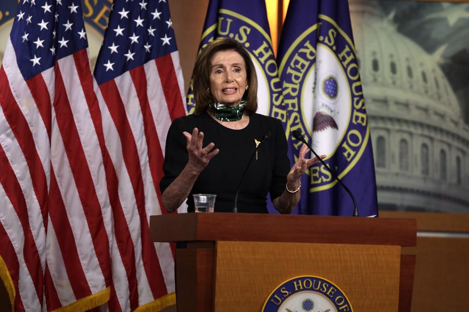 Speaker Pelosi Speaks To Media In Weekly Briefing On Capitol Hill