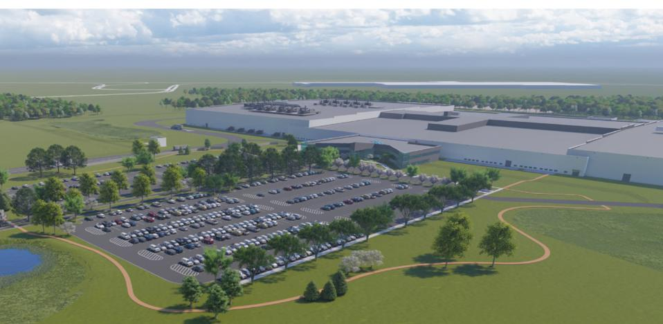 Rendering of the Ultium Cells LLC production facility near Lordstown, OH