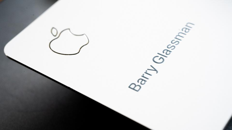 Apple Card: image of the Apple brand logo with a personal name