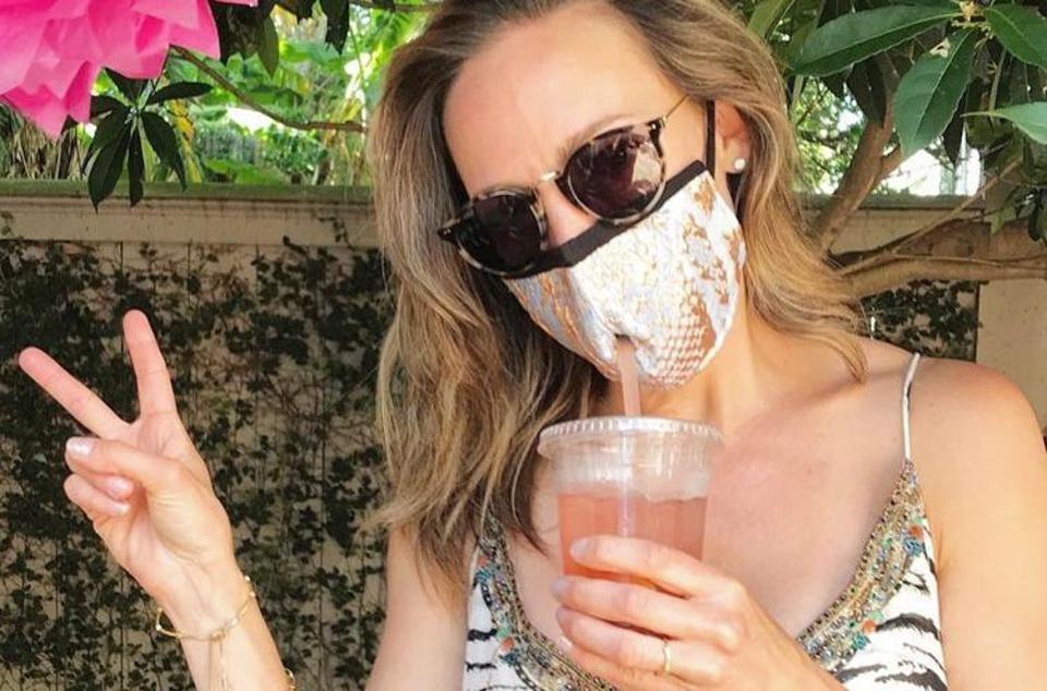 Straw mask allows face mask wearers to drink.