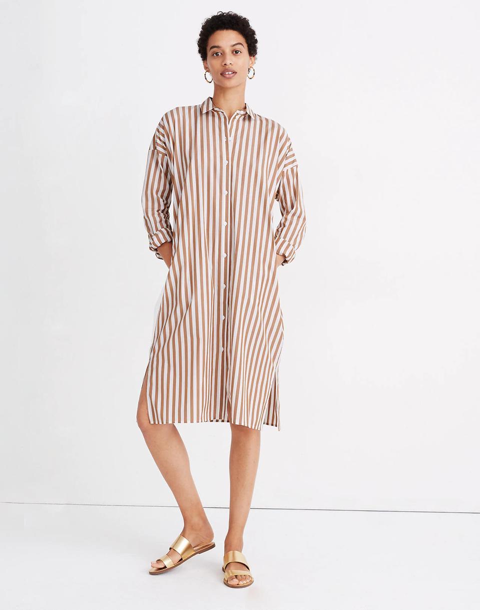 Madewell Striped Tunic Shirt Dress