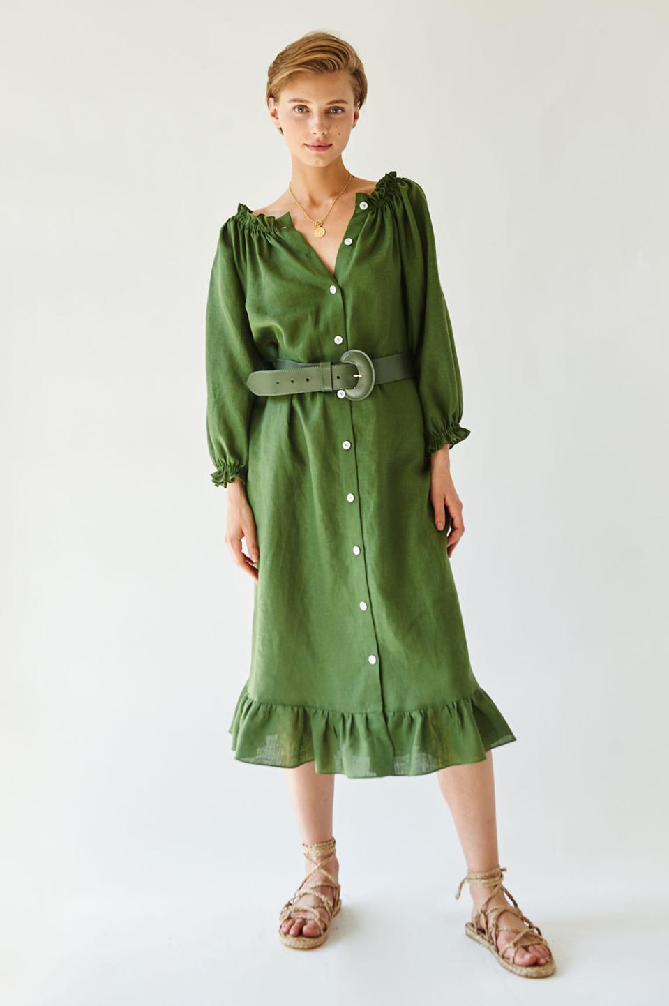 Cypress Green Loungewear Dress