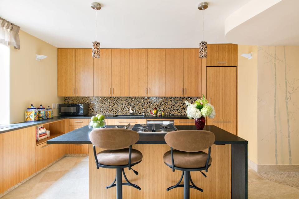 Kitchen designed with feng shui principles