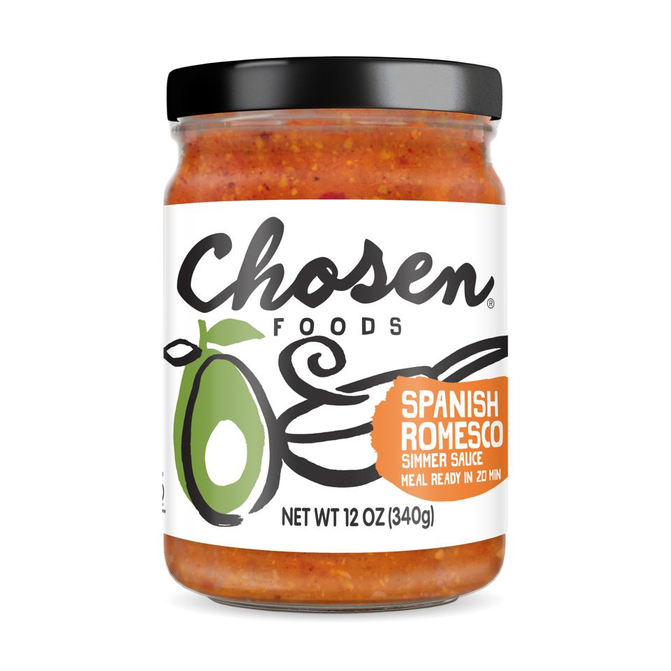 Chosen Foods Romesco Sauce Avocado Oil Healthy