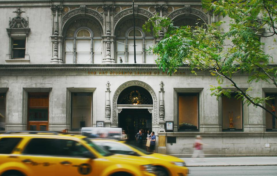 The entrance to the Art Students League of New York at 215 West 57th street.