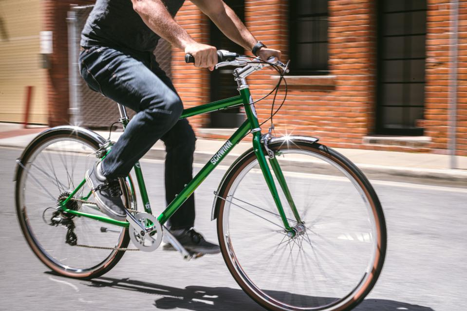 Green bike.