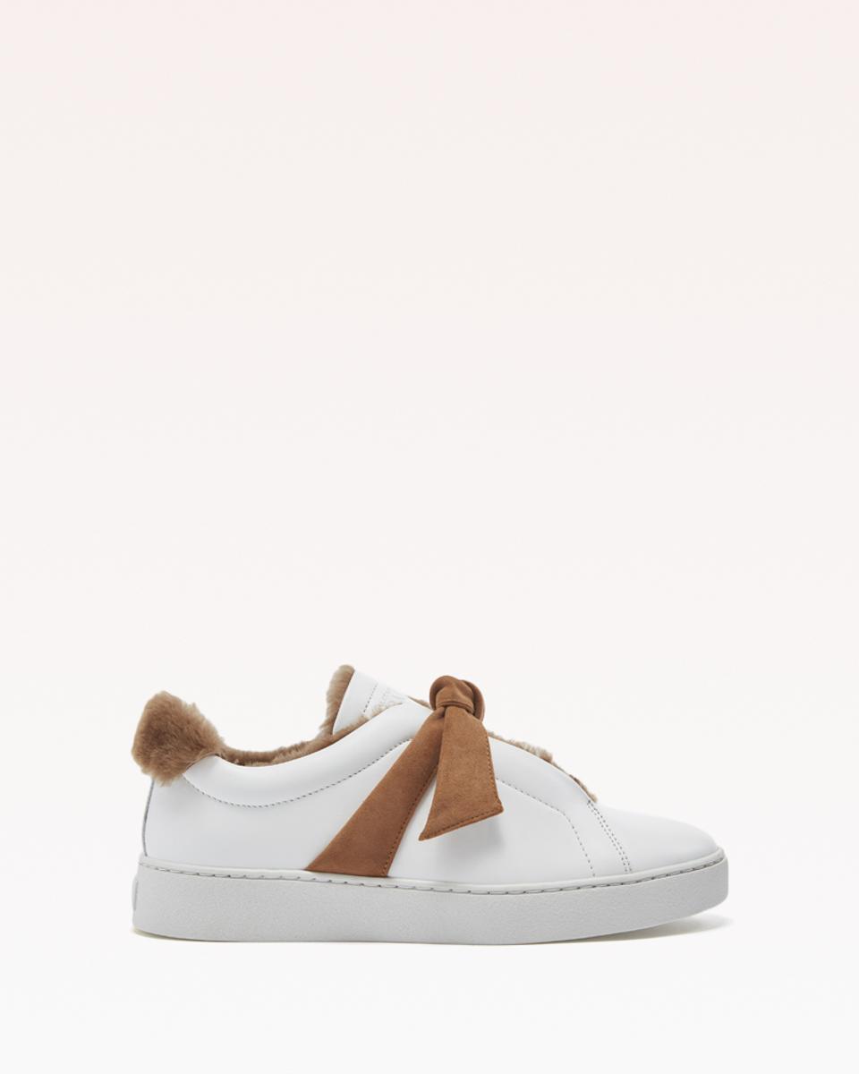 CLARITA fur sneaker cognac shearling