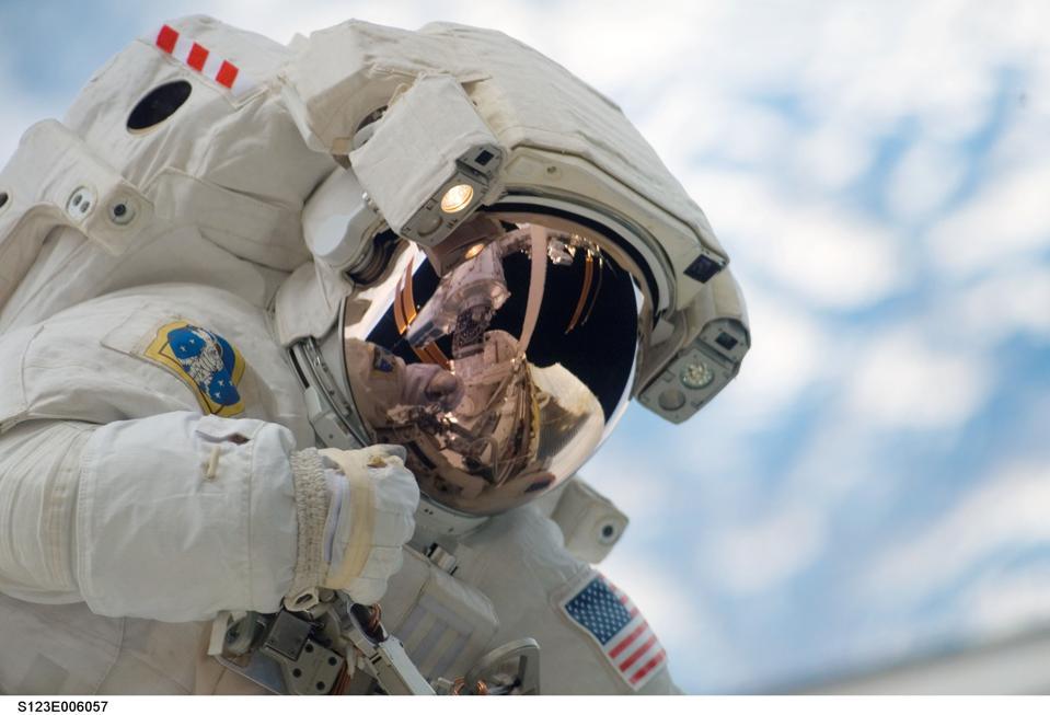 Dr. Garrett Reisman in space