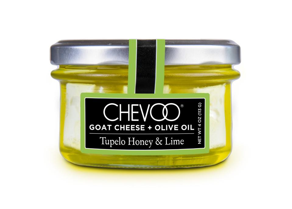 CHEVOO Tupelo Honey & Lime goat cheese extra virgin olive oil