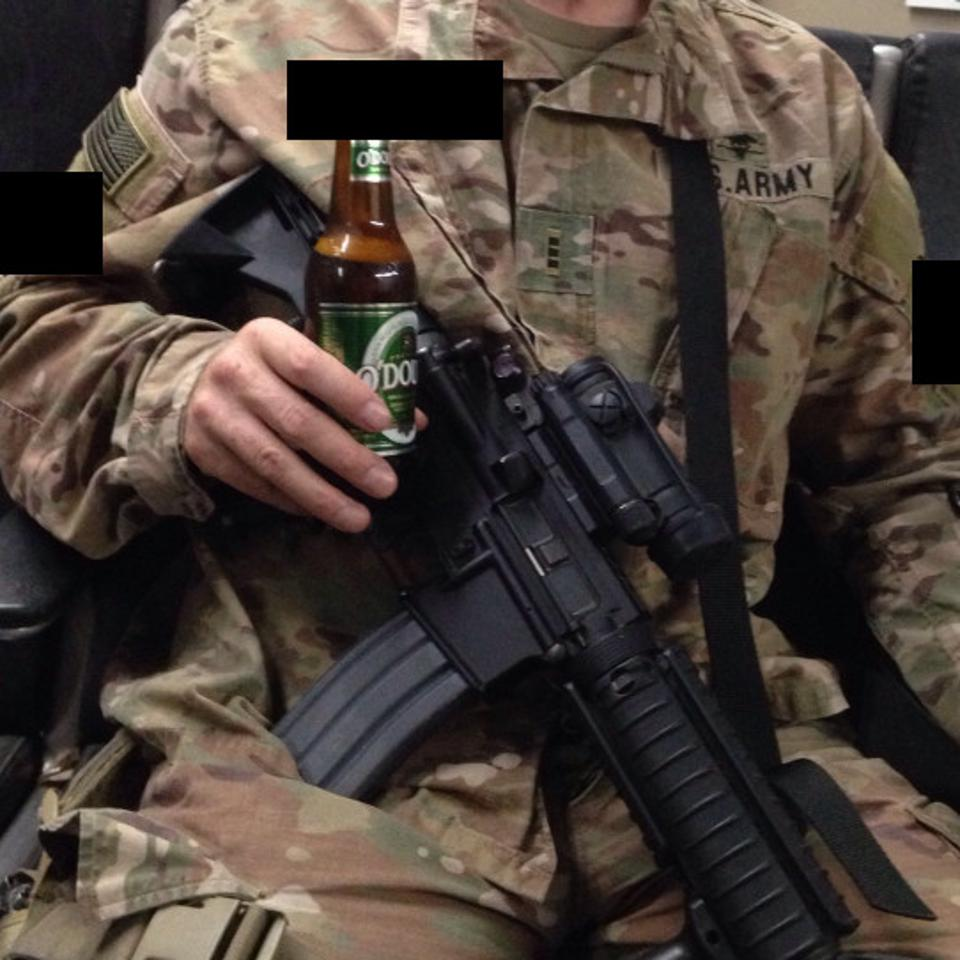 US Army soldier photo uploaded to Untappd