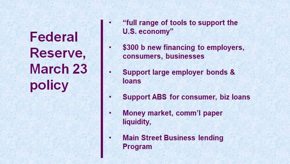 Federal Reserve, March 23 policy