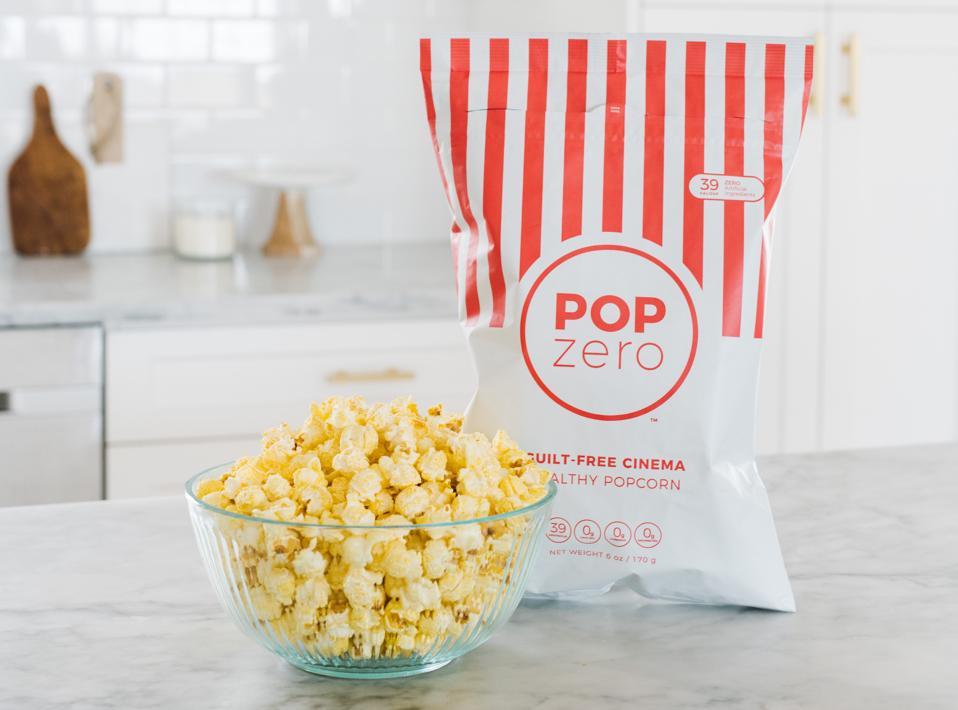 Pop Zero Healthy Popcorn algae oil