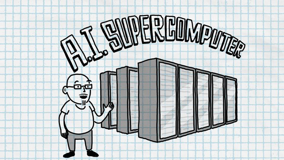 Microsoft's blog on the announcement included this content-free image of their supercomputer