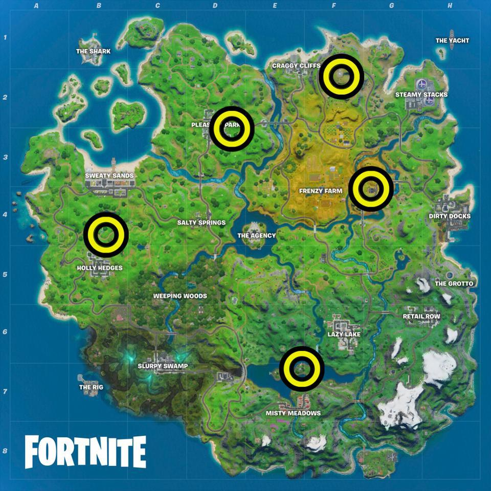 'Fortnite' Safe House Locations: Where To Eliminate A ...