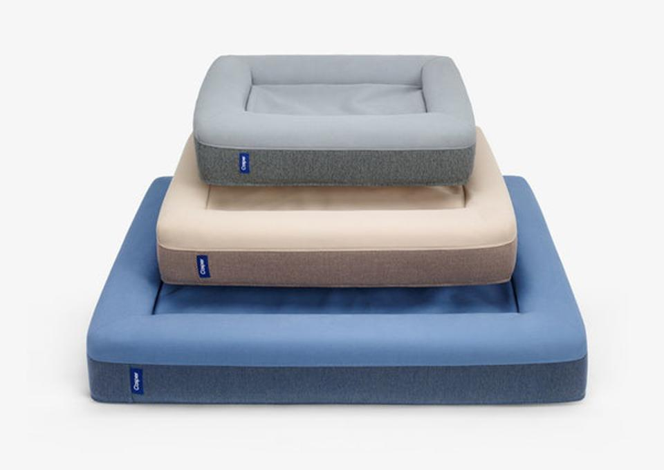 Casper Dog Bed in three sizes, blue, tan and gray
