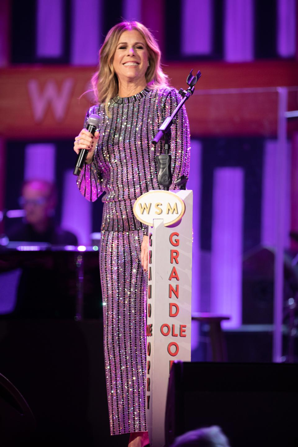 Rita Wilson performing on the Grand Ole Opry in Nashville - December 6, 2019