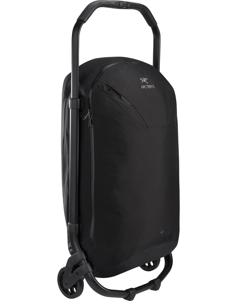black rolling bag