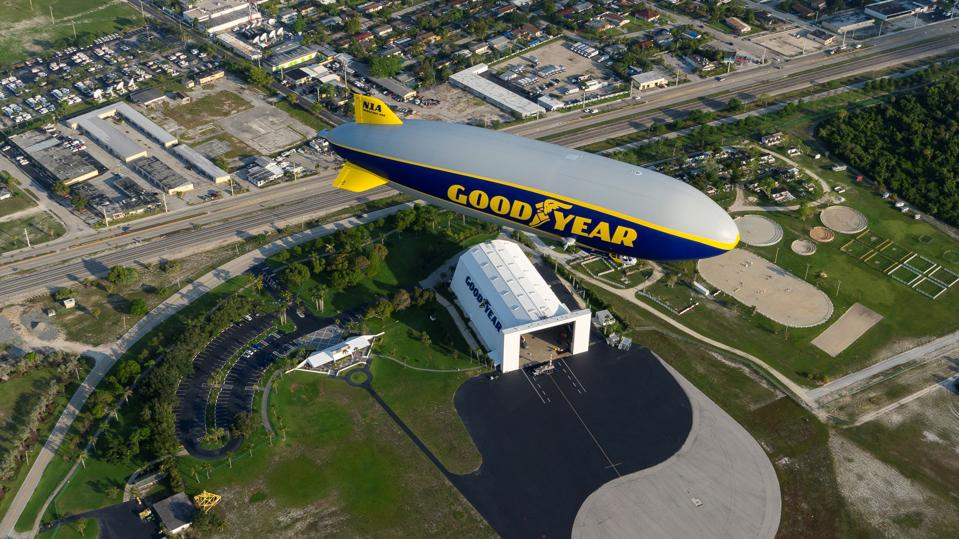 The Goodyear Blimp makes its sporting events return this weekend.