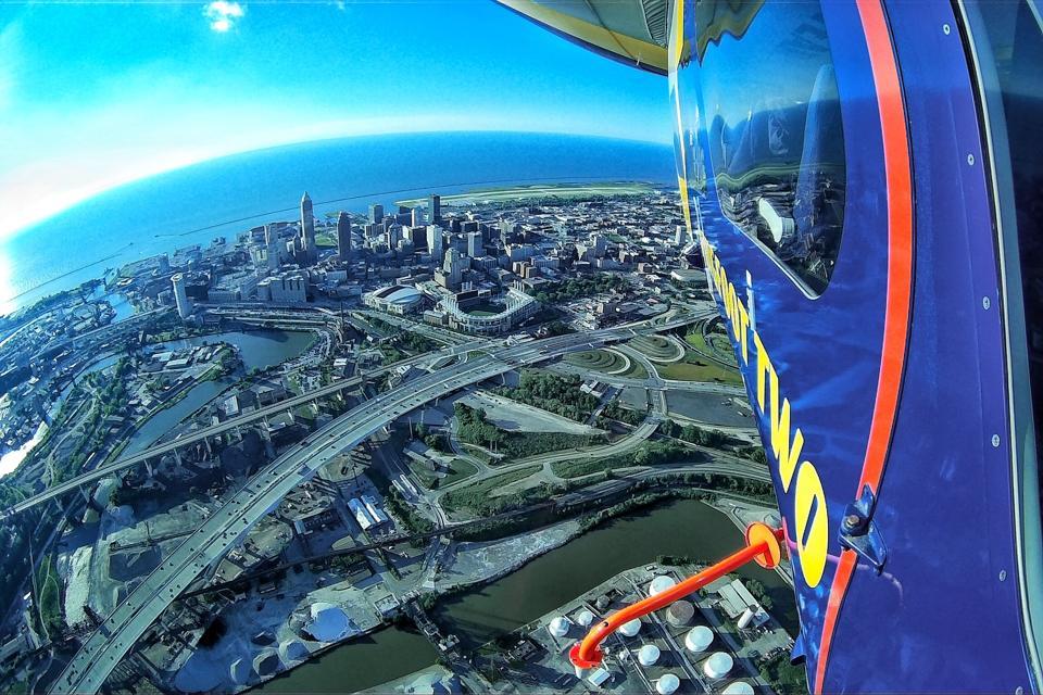 Goodyear Blimp aerial flyover